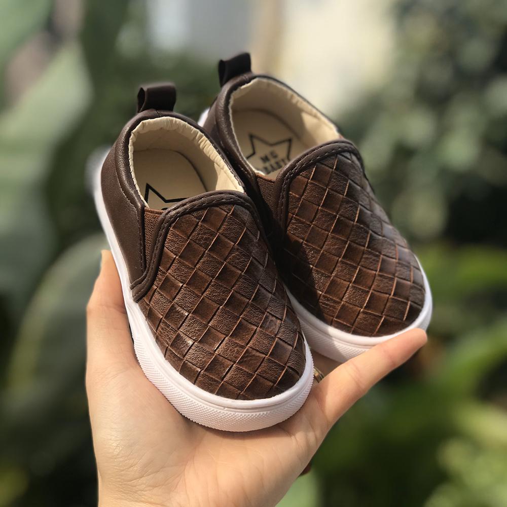 Giày Slipon V670 Nâu Cho Bé