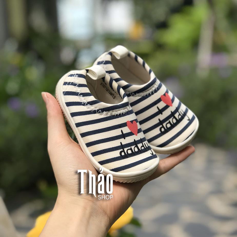 Giày Lười Kẻ Daddy Cho Bé