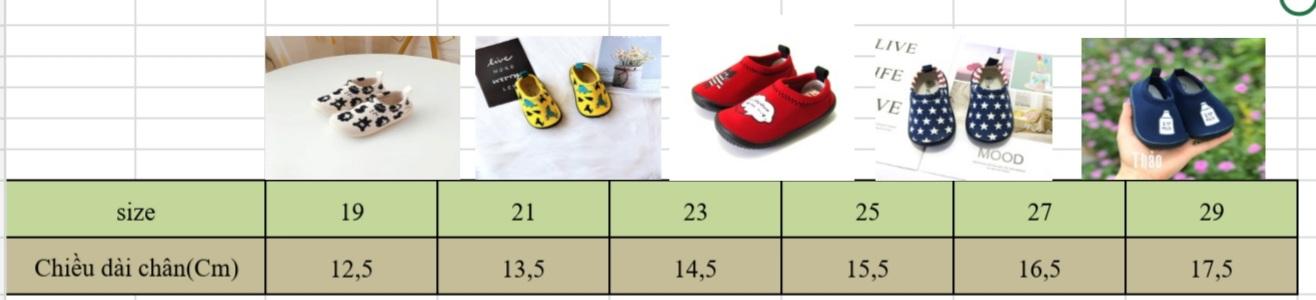 Giày Lười Vải Ngôi Sao Cho Bé