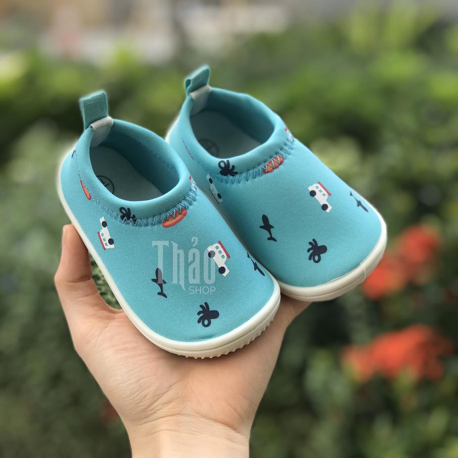 Giày Lười Xanh Oto – Giày Tập Đi Cho Bé
