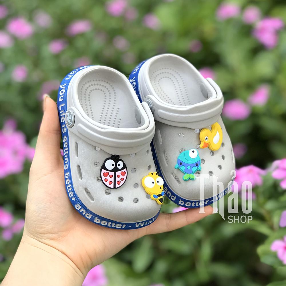 Dép Sandals 2038 Xám Cho Bé