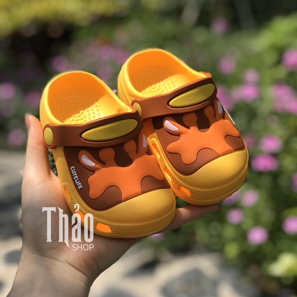 Dép Sandal 6009 Tuần Lộc Vàng Cho Bé