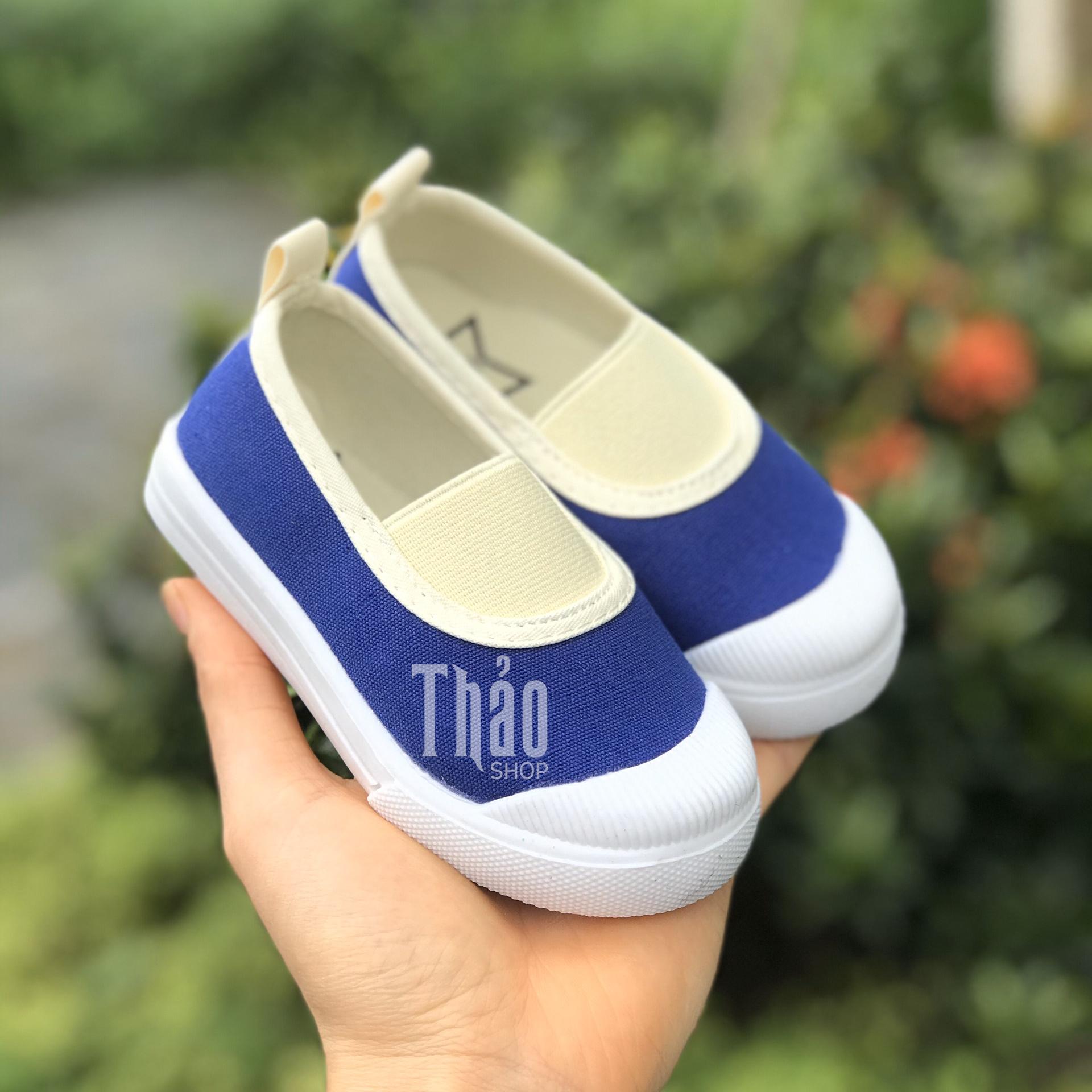 Giày Slipon V138 Xanh Dương Cho Bé