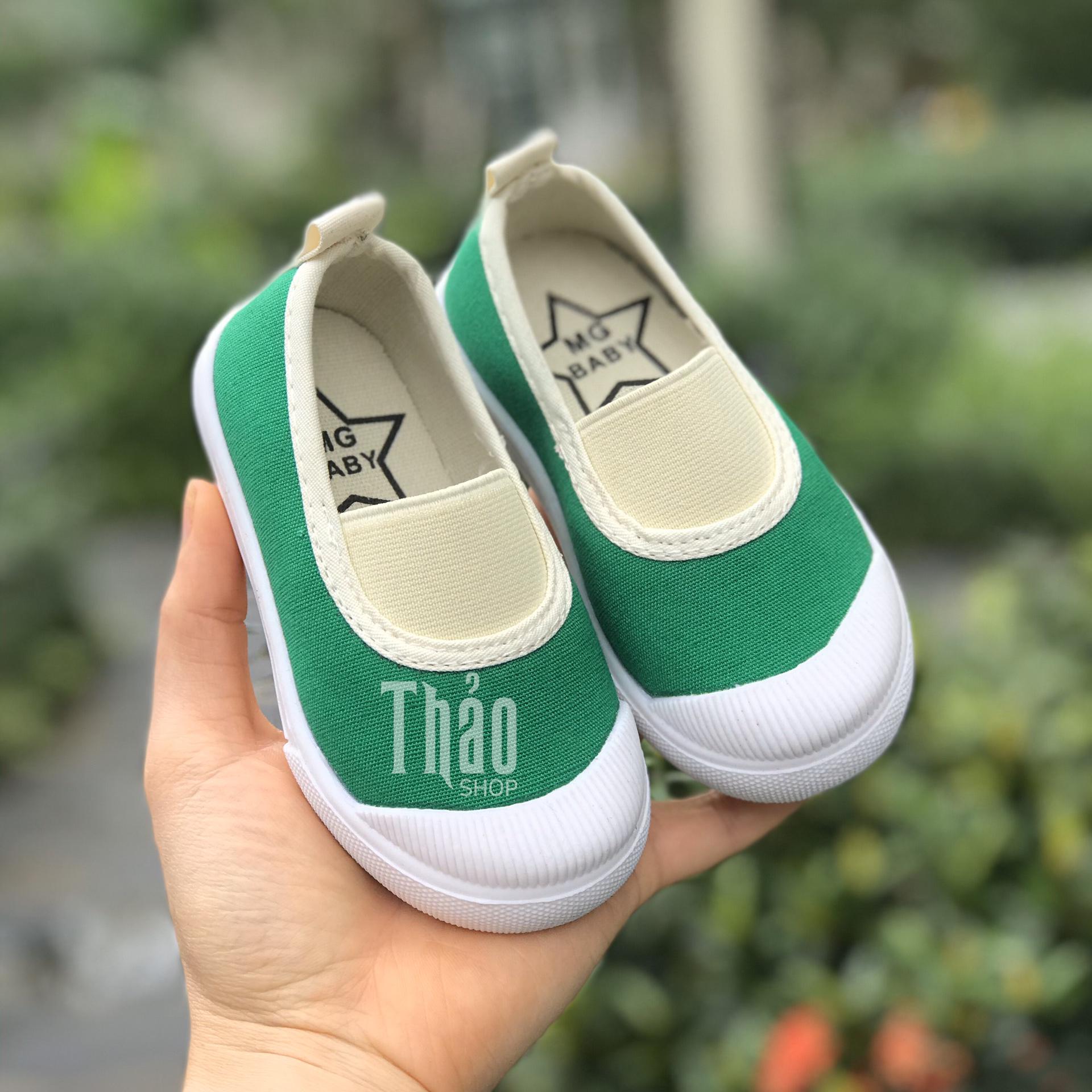 Giày Slipon V138 Xanh Lá Cho Bé