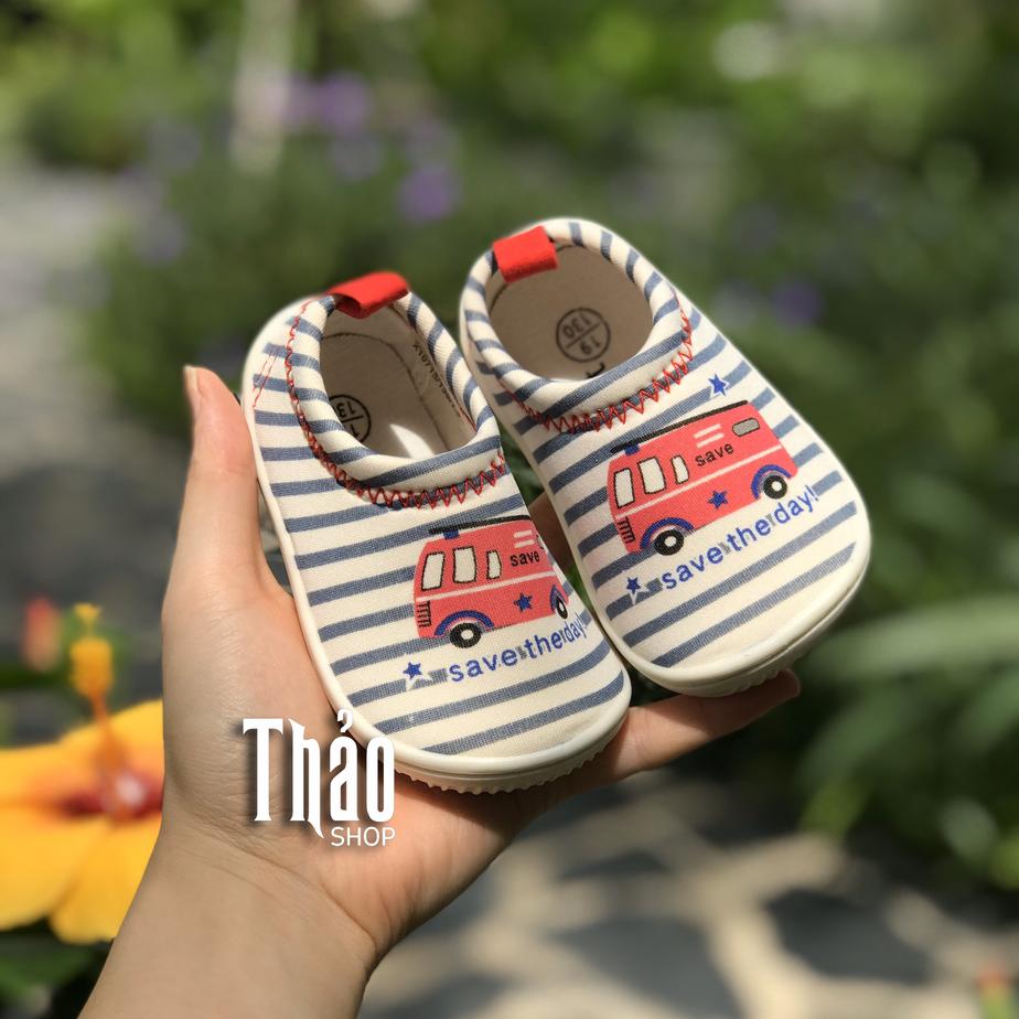 Giày tập đi cho bé bằng vải