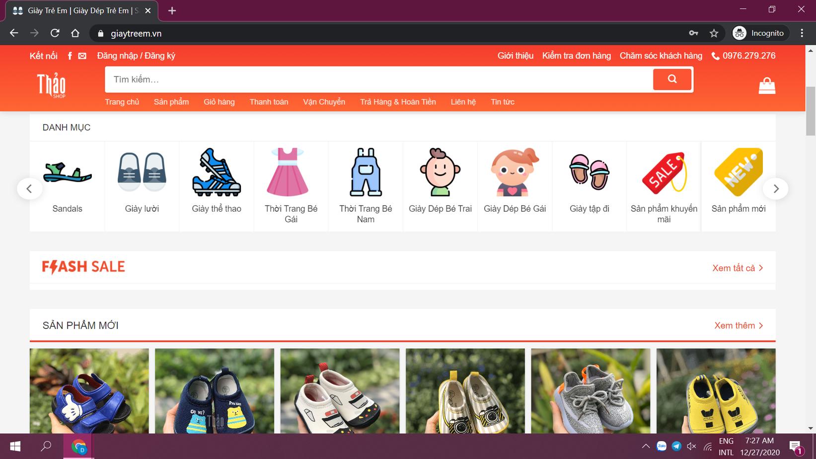 Tiêu chí đánh giá website bán giày trẻ em uy tín, chất lượng