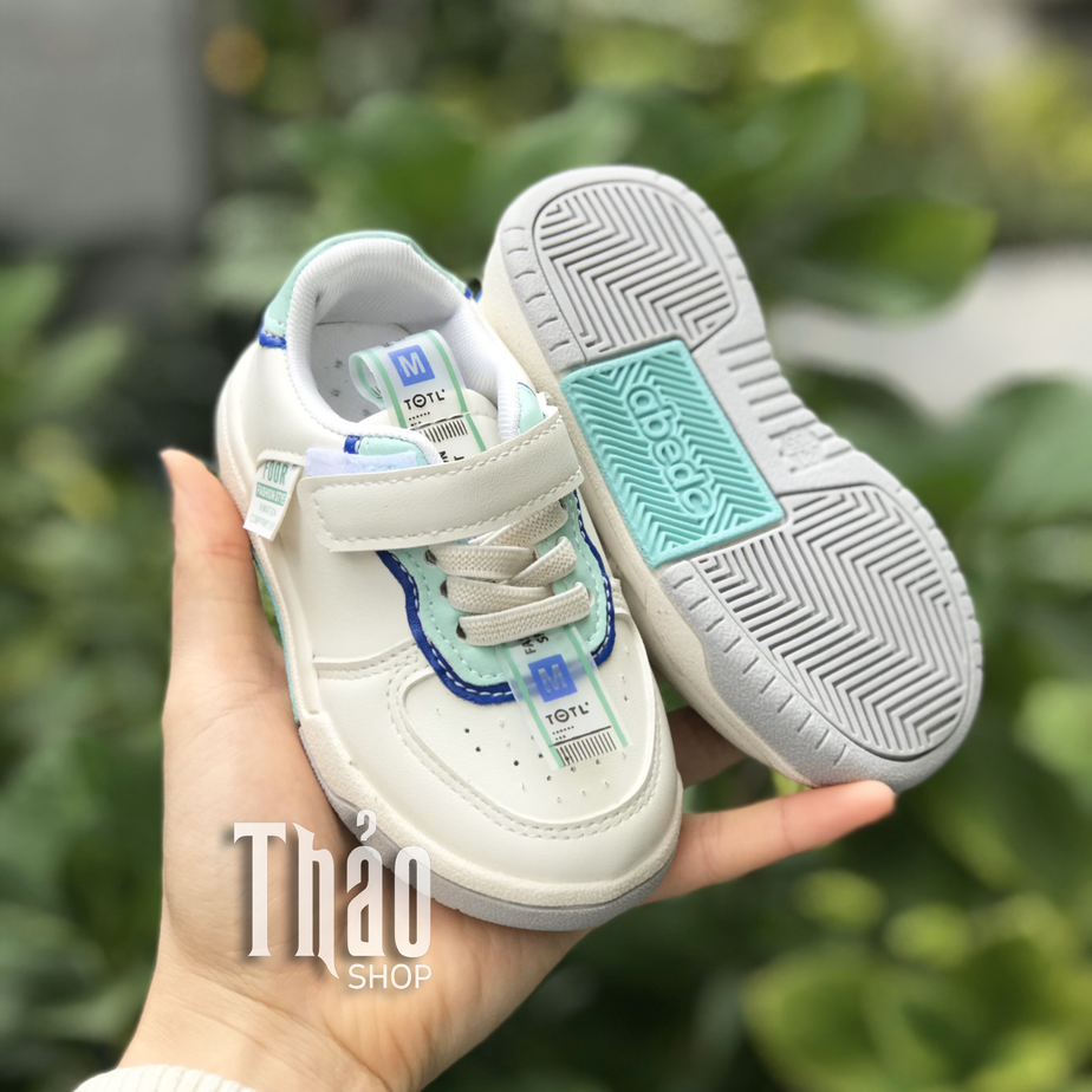 Giày Thể Thao N-25 Xanh Cho Bé