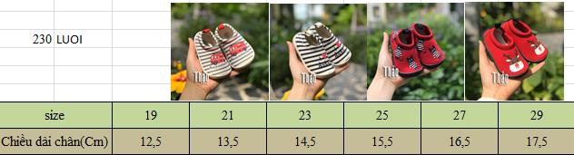 Giày Lười Tuần Lộc Đỏ Cho Bé Trai, Bé Gái
