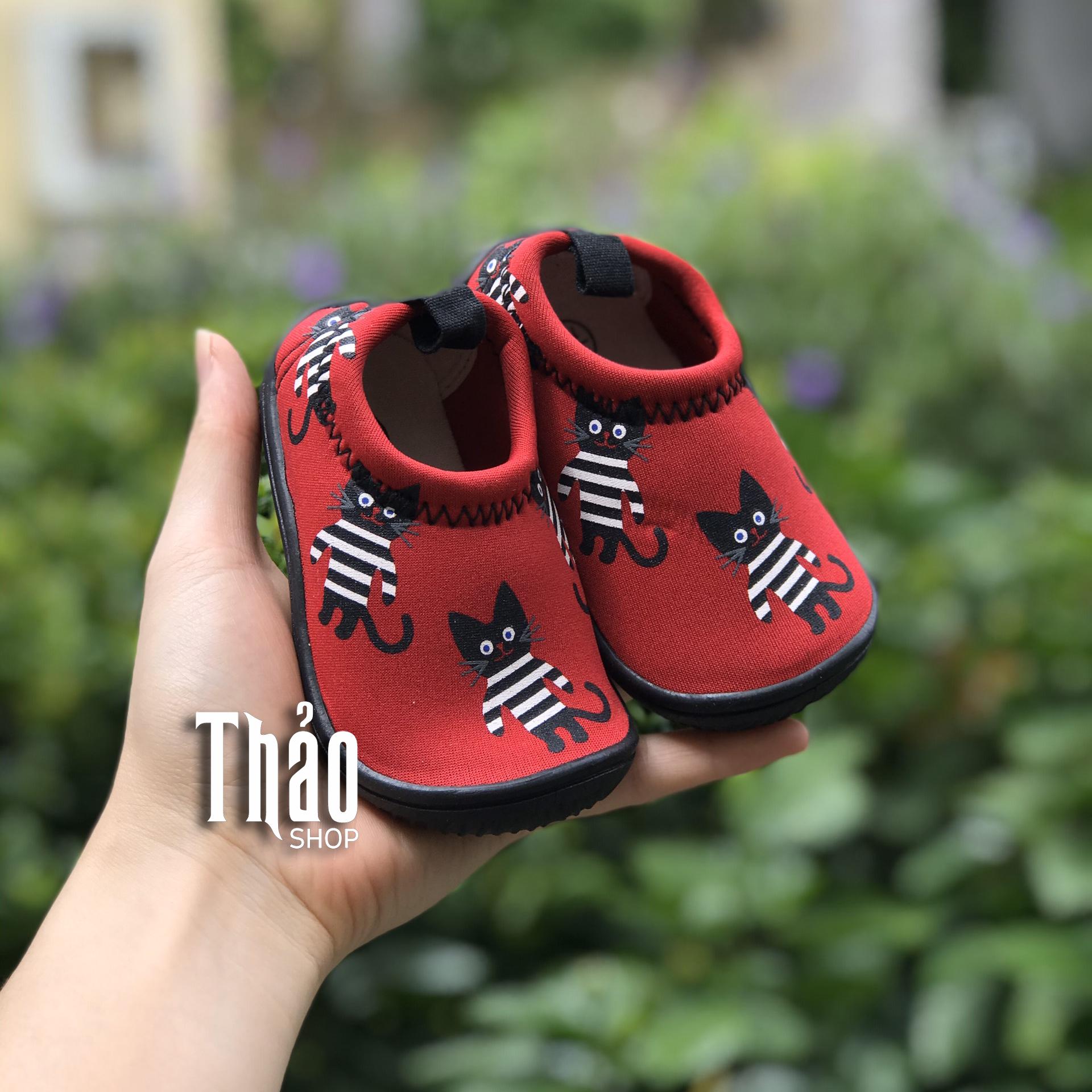 Giày Lười Mèo Đỏ 2 Cho Trẻ Con