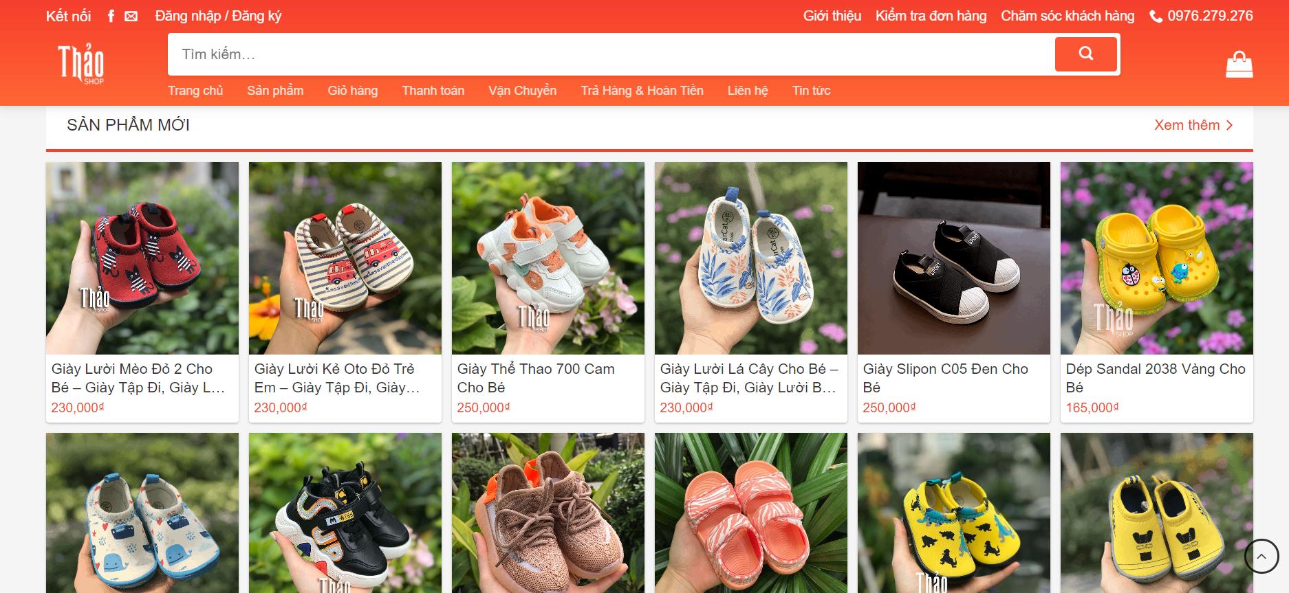 Giaytreem.vn cung cấp đa dạng các mẫu giày dép cho bé yêu